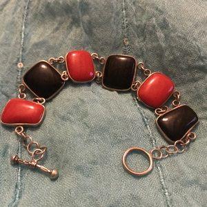 Jewelry - Vintage black and red bracelet
